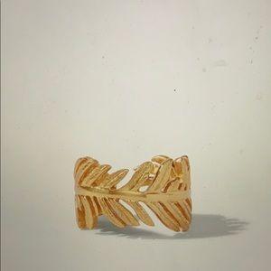 Julie Vos 24K Gold plate Fern Ring